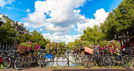 Hop on a bike and explore Amsterdam like a local