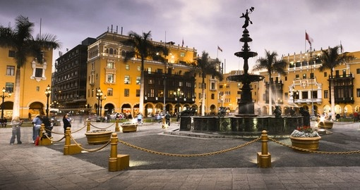 Visit Lima's main square on your Peru Tour