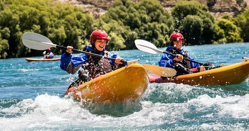 Experience kayaking the Mighty Clutha as part of your New Zealand vacation