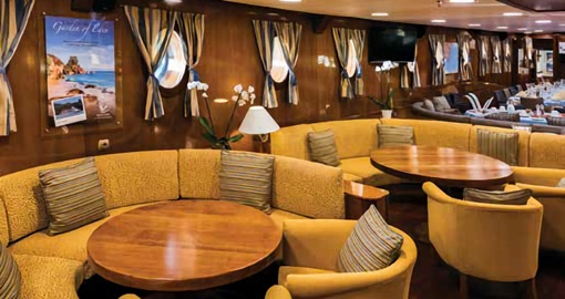 The Lounge Area on the M/S Galileo.
