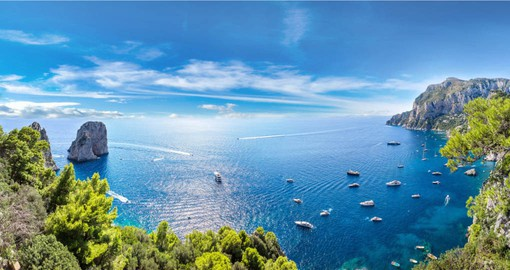 Experience The Island of Capri in the Tyrrhenian Sea during your Italy tour.