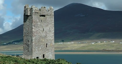 An old castle tower ruin on Achill Island