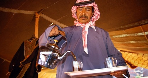 Hot tea in Wadi Rum