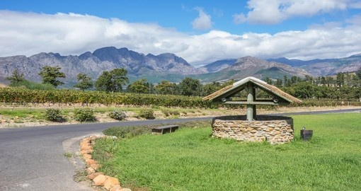 The Cape Winelands around Stellenbosch give the opportunity to sample fine wines on your South African tour