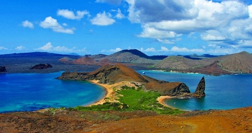 See stunning pinnacle rock in the Galapagos Islands during your Ecuador tour.