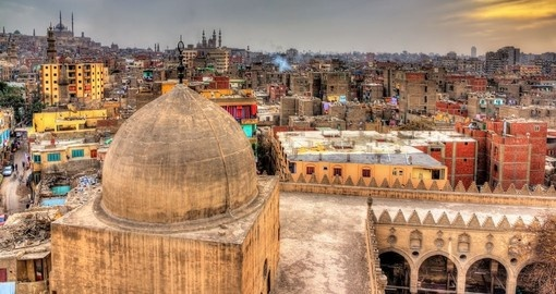 Cairo from roof of Amir al-Maridani mosque - A great photo opportunity on your Egypt vacation
