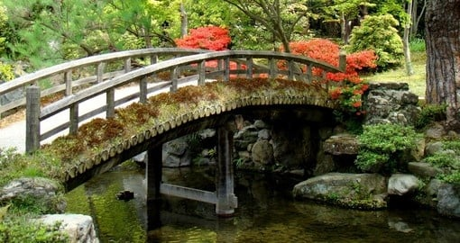 A beautiful Japanese garden in the Kyoto Imperial Palace