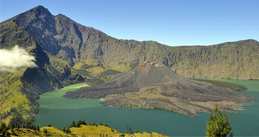 Lombok's Mount Rinjani is the second-highest volcano in Indonesia