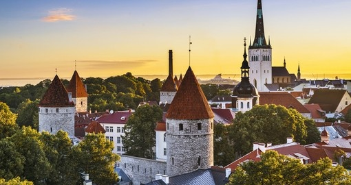 Sunset over Tallinn