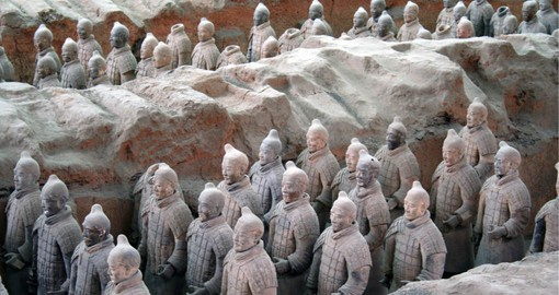 Amongst the most famous archaeological sites in the world, Xi'an's terracotta army remained hidden until 1974