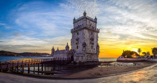 Built by Francisco de Arruda between 1514 and 1521, Lisbon's Tower of Belem defends the entrance to the Tagus River