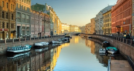 Your rail journey to Moscow begins in St. Petersburg, Russia.