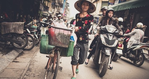 Busy Hanoi traffic