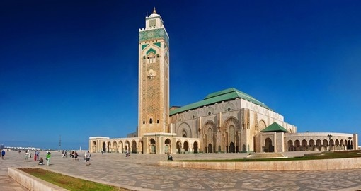 Hassan II mosque is included on all Casablanca tours.