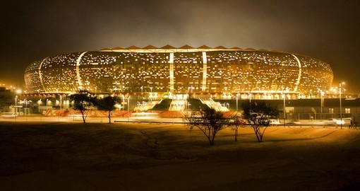 The soccer stadium is a popular inclusion on Johannesburg tours.