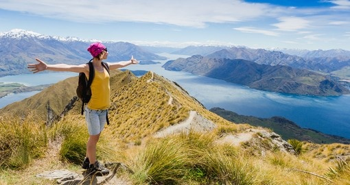 Go for a hike and enjoy the view of Lake Wanaka and Mt Aspiring