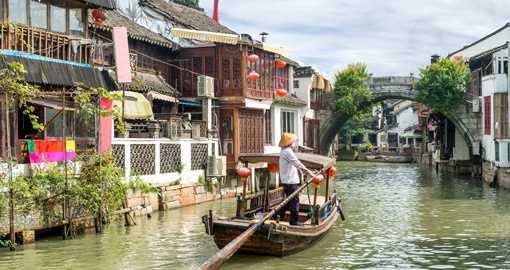 See traditional Boats in Shanghai on your trip to China