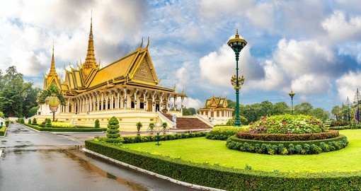 Phnom Penh's Royal Palace was the official residence of the King