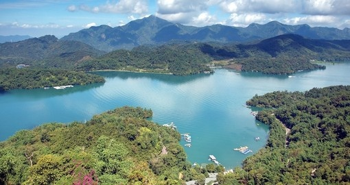 The lake is one of thirteen designated National scenic areas in Taiwan