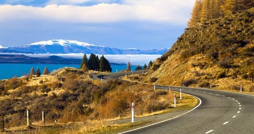 Enjoy spectacular scenery on your journey through New Zealand.