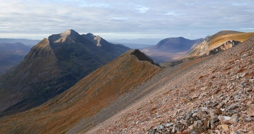Explore Beinn Eighe mountains and enjoy natures beauty during your next Scotland tours.