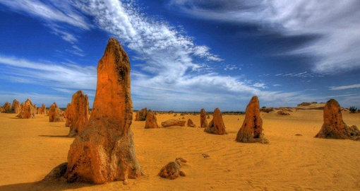The dramatic landscape of the Pinnacles Desert