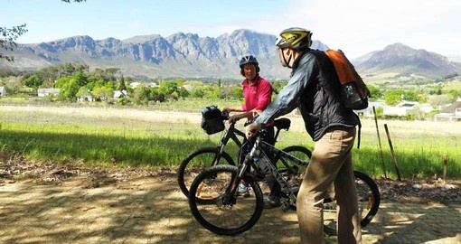 Experience the Cape Winelands by bike on your South African Vacation
