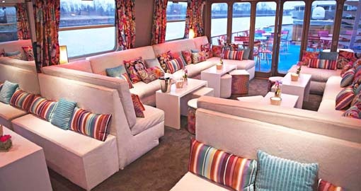 The Salon on the MS Jeanine.