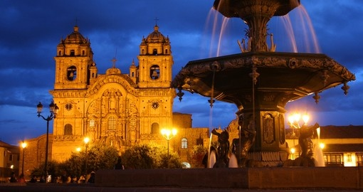 Stroll's Cusco's famous Plaza de Armas on your trip to Peru