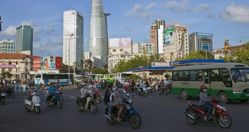 Daily traffic in Ho Chi Minh City