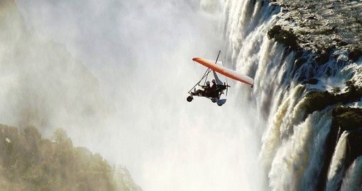Microlighting over the Falls