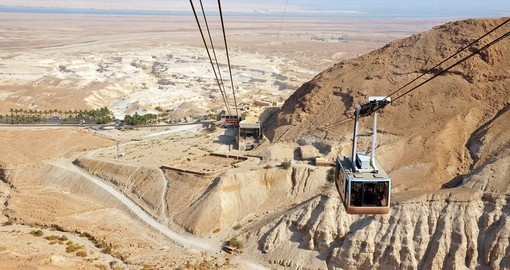 The cable car to Masada stronghold