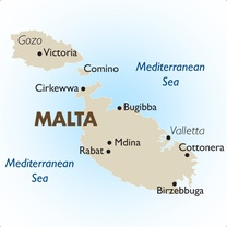 Malta Country Map