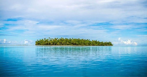 Tikehau Atoll is a spectacular crown of coral and sand 16 miles long and 14 miles wide