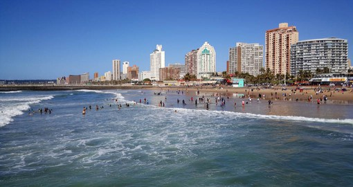Include a visit to famous North Beach in Durban on your South African Tour