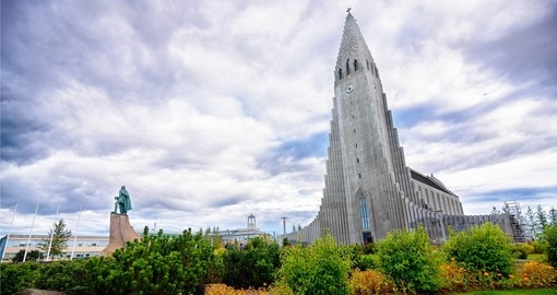 Most Iceland Vacations include a vist to Hallgrimskirkja Church in Reykjavik