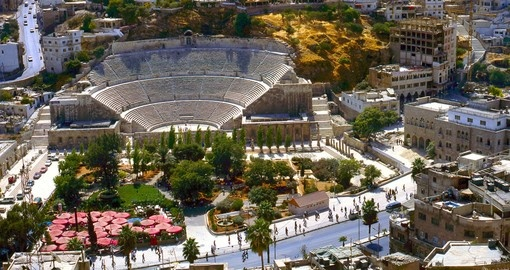 The Roman amphitheatre is a popular stop on all Amman tours.