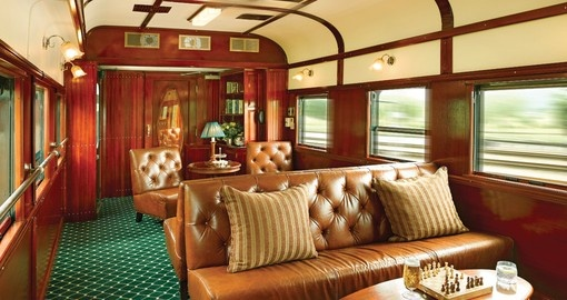 The Club Lounge on board the train
