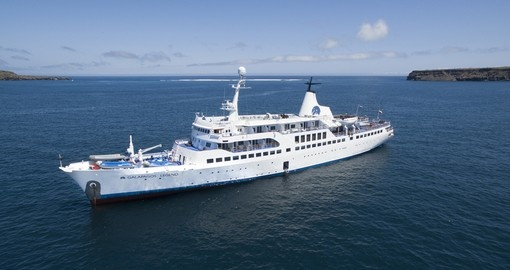 The MV Legend explores the beautiful waters off Ecuador