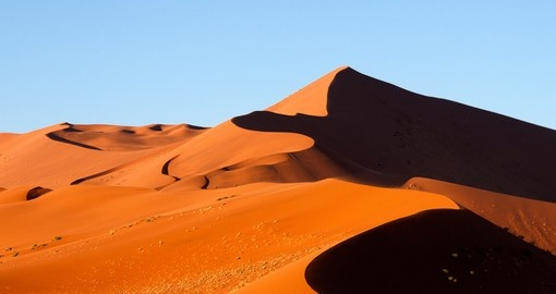 Incredible Sossusvlei Dunes on your next Namibia tours.