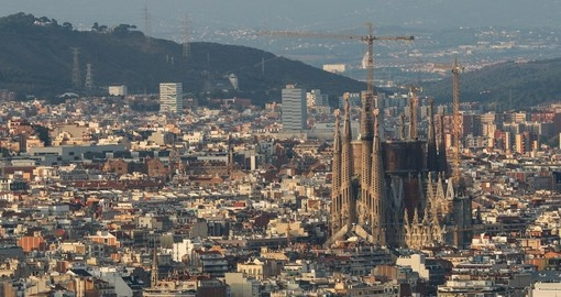 Explore Sagrada Familia Cathedral in Barcelona during your next trip to Spain.