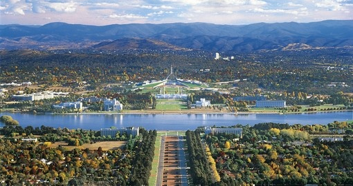 Experience amazing aerial view over Canberra during your next Australia vacations.