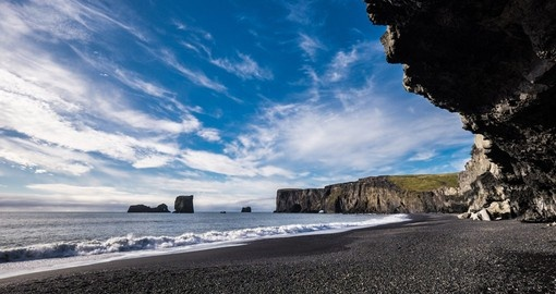 Black sands beach of Vik in Iceland