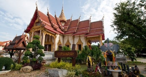 Marvel in the brilliance of the Wat Chalong temples architecture on your Thailand Vacation