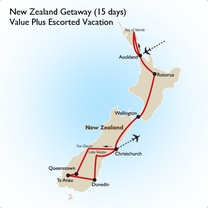 New Zealand Getaway (15 days): Value Plus Escorted Vacation
