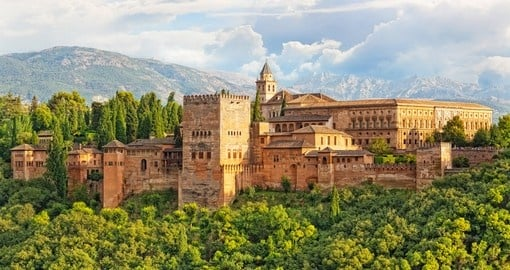 Fortress of Alhambra is a beautiful place to visit on your next Spain tours.