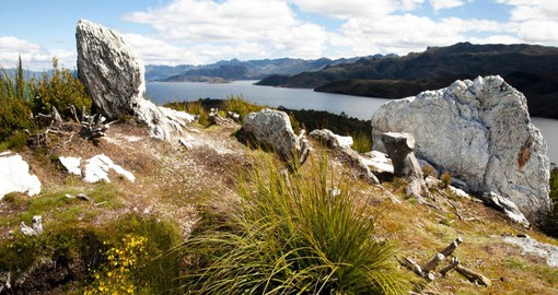 Pedder Lake in the Southwest Wilderness is Tasmania's largest National Park