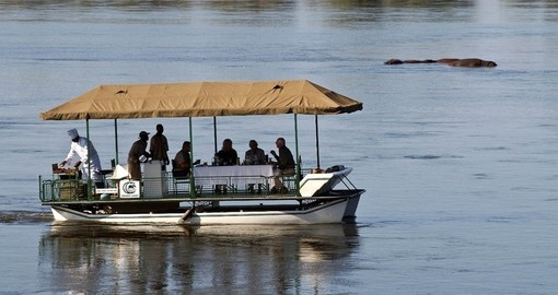 Have lunch on the Zambezi during your stay at Chiawa Camp in Zambia