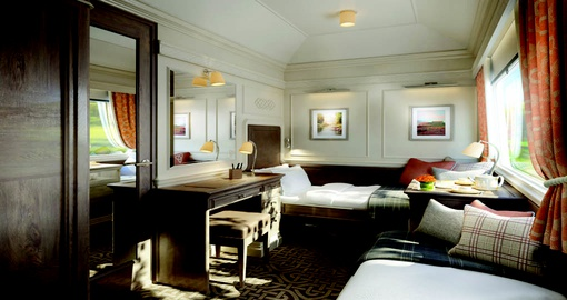 Relax in your suite on board the Grand Hiberian