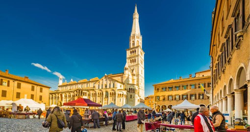 Modena is renown for it's Balsamic Vinegar, University and as the home of Ferrari